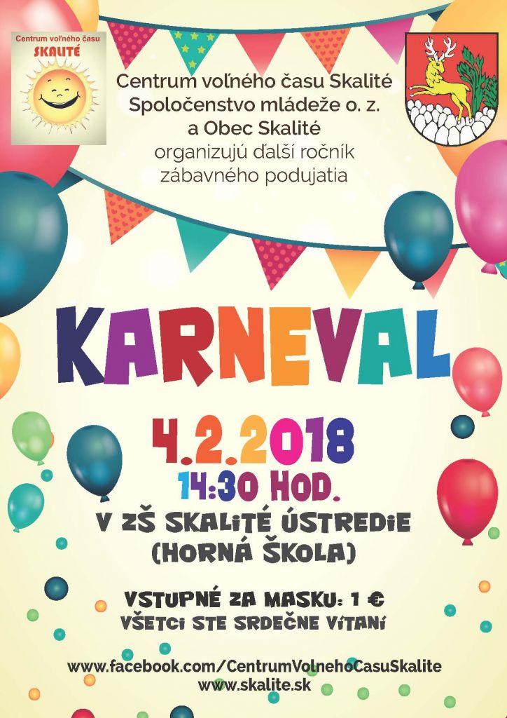 Kalendár akcií - Karneval v Skalitom. - Oficiálné stránky obce Skalité 227044f78f7