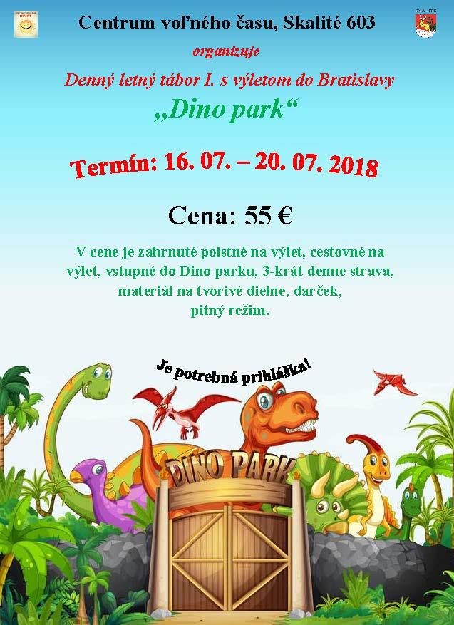 Kalendár akcií - Denný letný tábor - Dino park Bratislava ... e5c9a06bb51